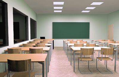 Светодиодное освещение в классе