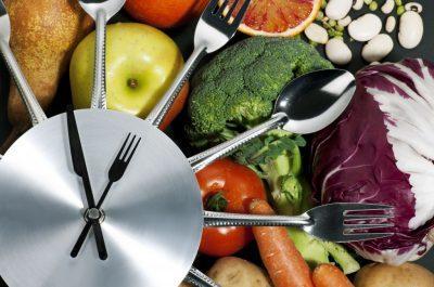 еда и часы