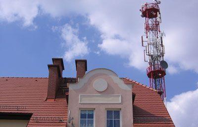 Сотовая вышка на крыше