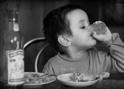 Ребенок выпил водку