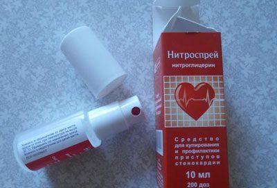 Препарат Нитроспрей