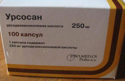 Препарат урсодезоксихолевая кислота