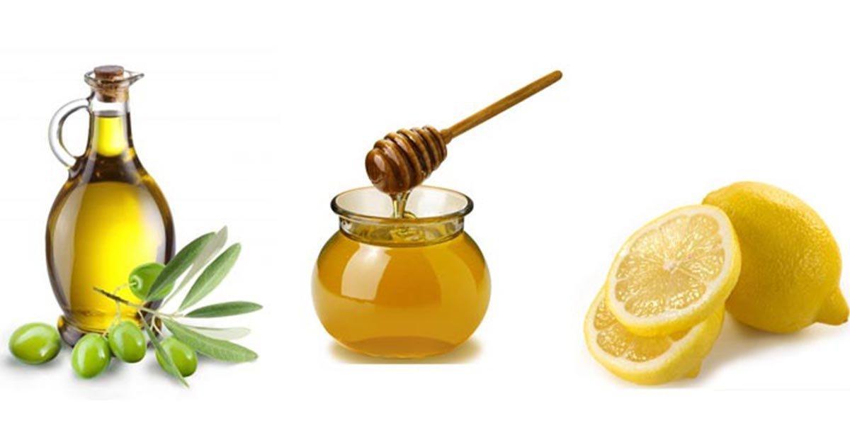 Очищение при помощи меда, лимона и оливкового масла