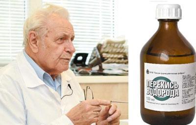 Лечение болезней перекисью водорода по Неумывакину, схемы приема раствора