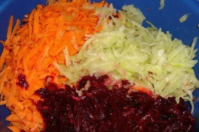 Редька со свеклой и морковью