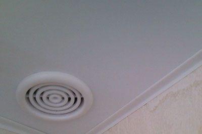 Вентилятор в натяжном потолке