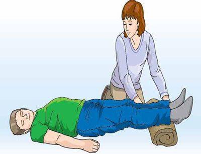 Положение больного при потере сознания