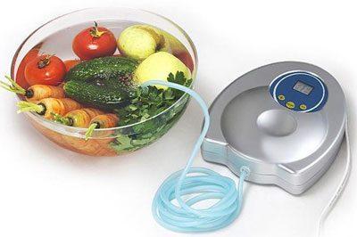Насыщение озоном овощей