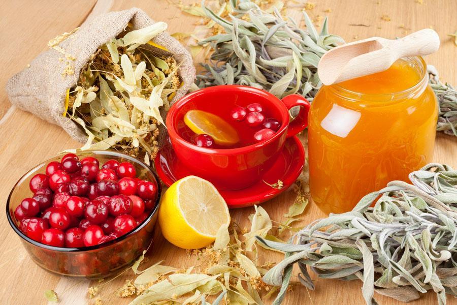 Клюква, чеснок и мёд для чистки сосудов
