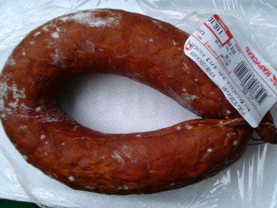Колбаса в упаковке