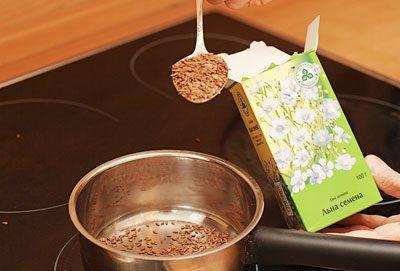 Приготовление отвара семени льна