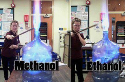 Горние этанола и метанола