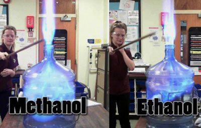 Горение метила и этила