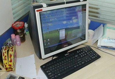 Монитор с защитным экраном