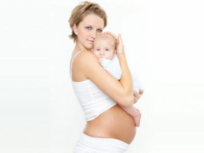 Беременная с ребенком