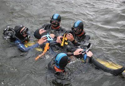 Спасение водолаза