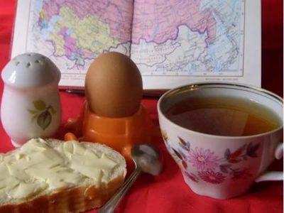 Зеленый чай с едой