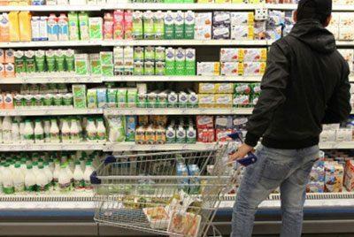 Молочная продукция в магазине