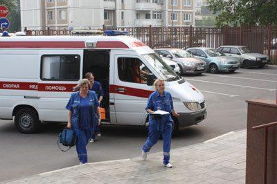 Приезд скорой помощи