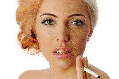 Курение и кожа женщины