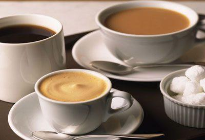 Чай с кофе и какао
