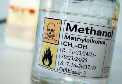 Бутылка с метанолом