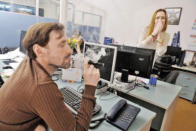 Курение в офисе