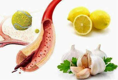 Лимон и чеснок для сосудов