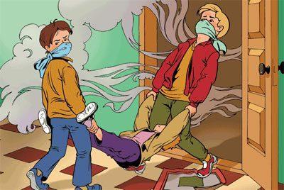 Вынос пострадавшего на воздух