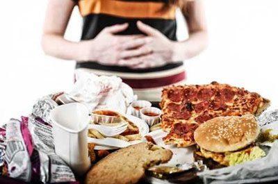 Проблемы с желудком после переедания