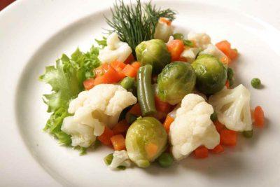 Вареные измельченные овощи