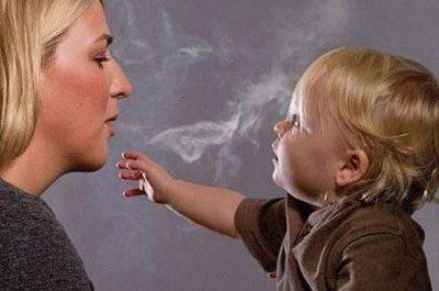 Никотиновый дым и ребенок