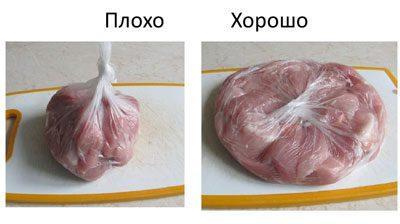 Правило заморозки мяса