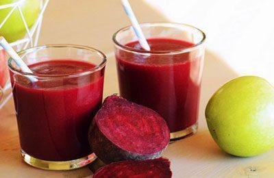 Сок из яблок и свеклы