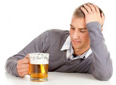 Употребление большого количества пива